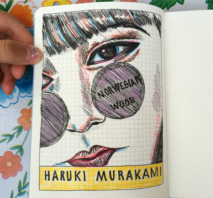 Norwegian Wood Book Cover Illustration