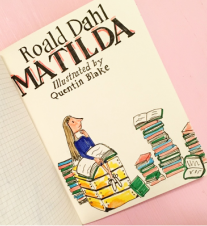 Matilda Illustrated Book Cover